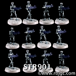 STR901 FULL SET OF 12 ROBOTS