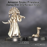 MRA404 AMAZON SNAKE PRIESTESS WITH RANDOM SNAKE