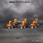 MRA503 SIX RANDOM CLEAR RED SNAKES
