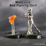 MRU401 MADELEINE AND FLAMING SKULL