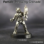 STH009 FEMALE THROWING GRENADE