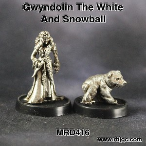 MRD416 GWYNDOLIN THE WHITE AND SNOWBALL